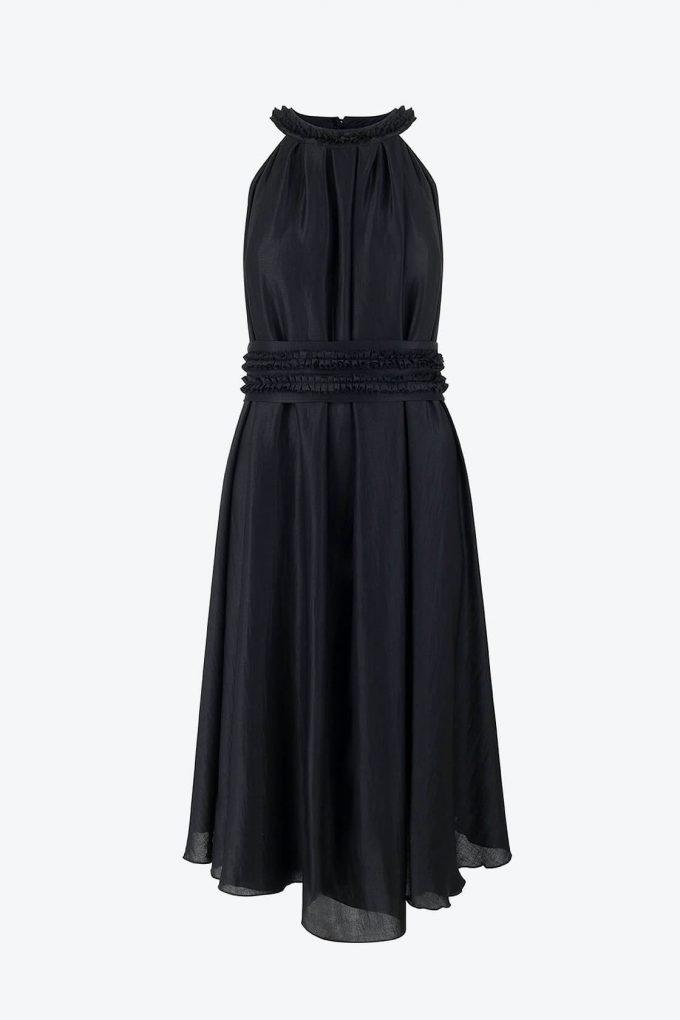 OL100002650 Olivera Sleeveless Cocktail Dress Black1B