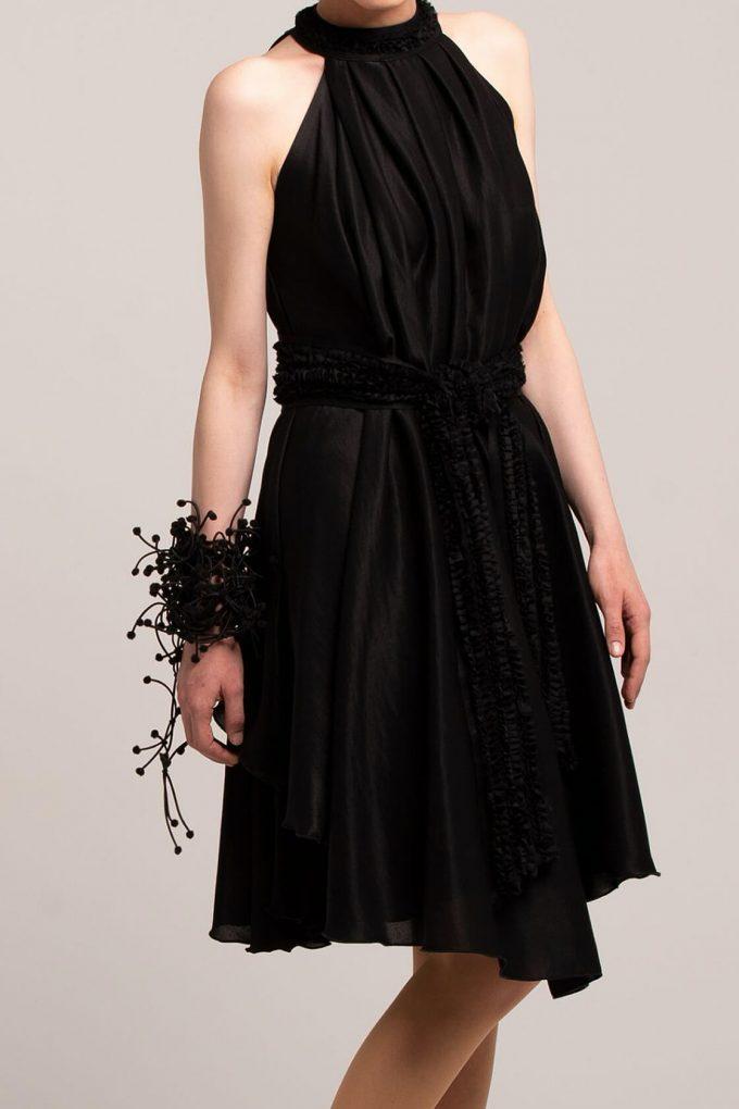 OL100002650 Olivera Sleeveless Cocktail Dress Black2