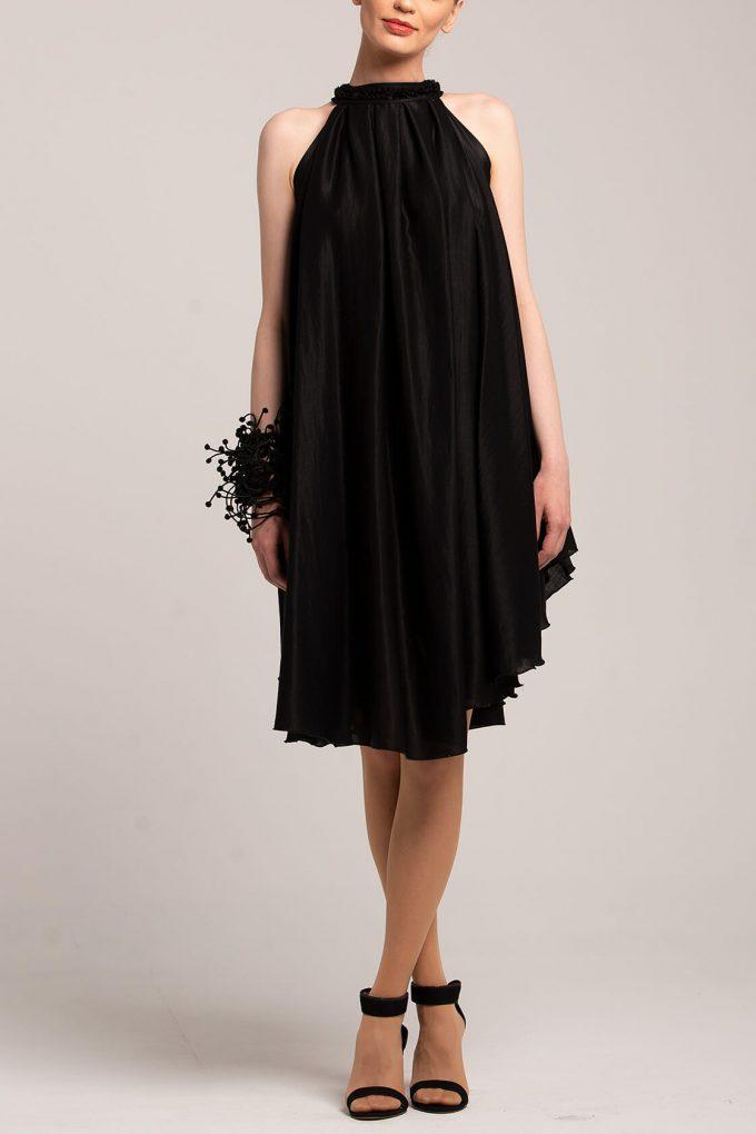 OL100002650 Olivera Sleeveless Cocktail Dress Black3