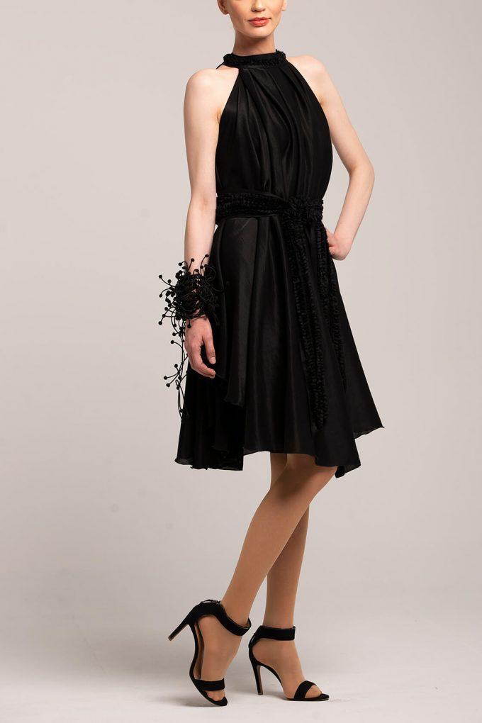 OL100002650 Olivera Sleeveless Cocktail Dress Black4