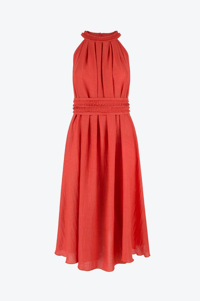 OL100002652 Olivera Sleeveless Cocktail Dress Red1B