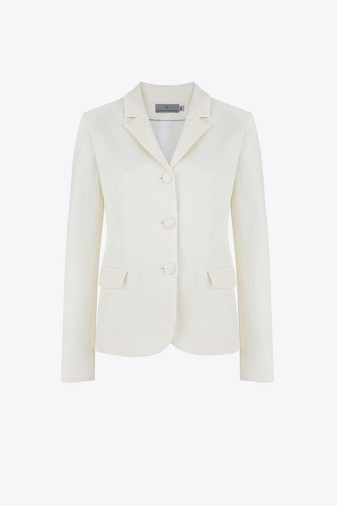 OL100002655 Vera Fitted Blazer White1