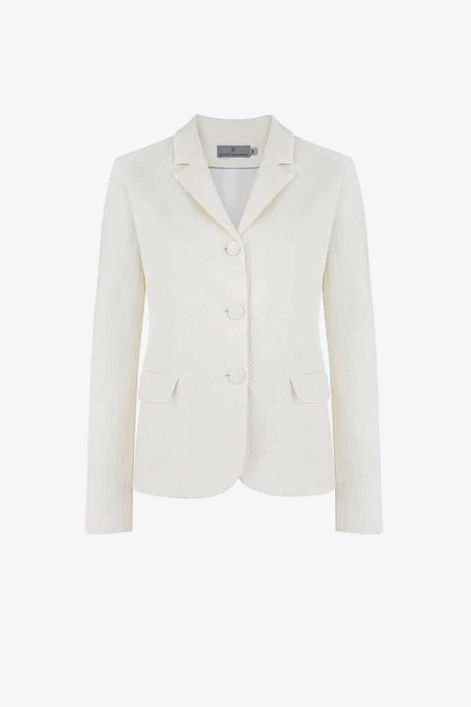 OL100002655 Vera Fitted Blazer White1B
