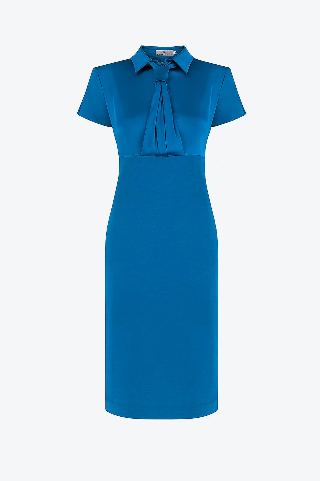 OL100002659 Zoja Fitted Dress With Collar And Tie 1