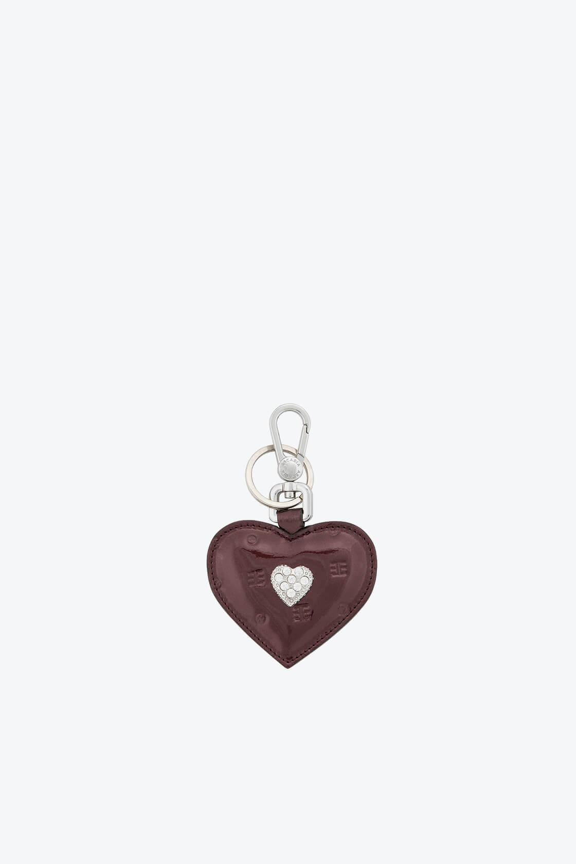 ol80000333 keyring heart swarovski stones 1
