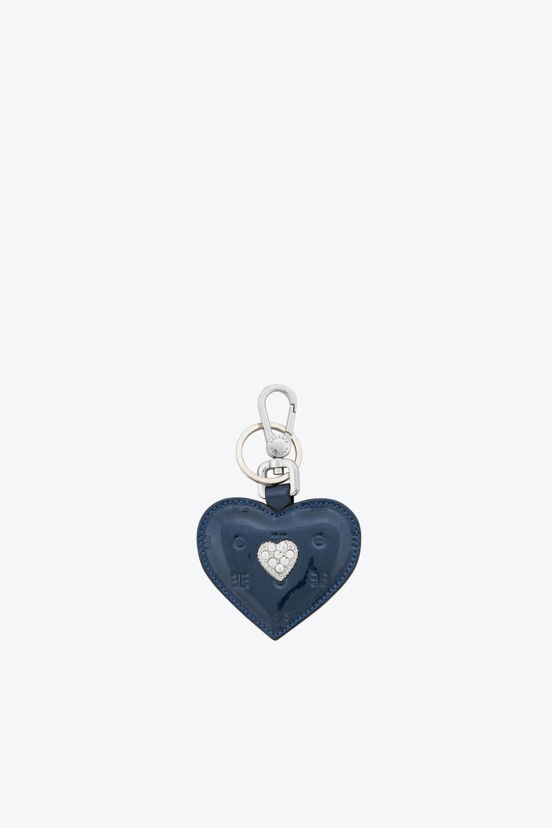 ol80000337 keyring heart swarovski stones 1