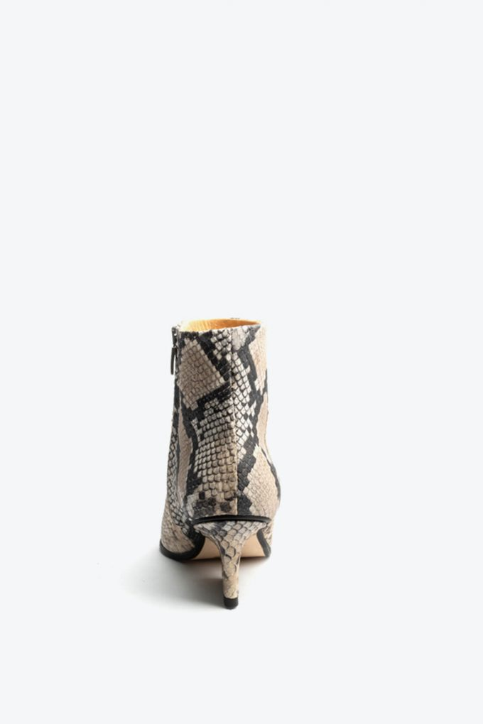 EJK0000001 Ryan ankle boots Beige python print 4