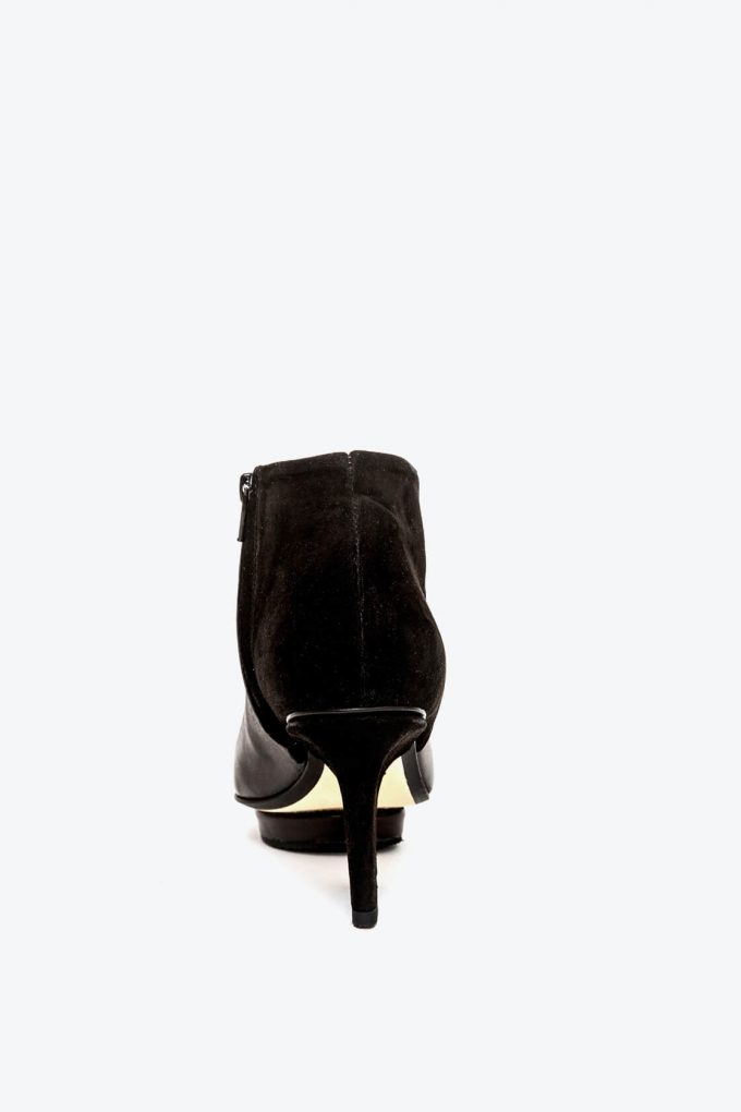 EJK0000002 Christal ankle boots open toe black 2