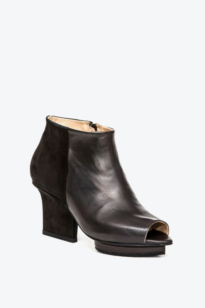EJK0000002 Christal ankle boots open toe black 3