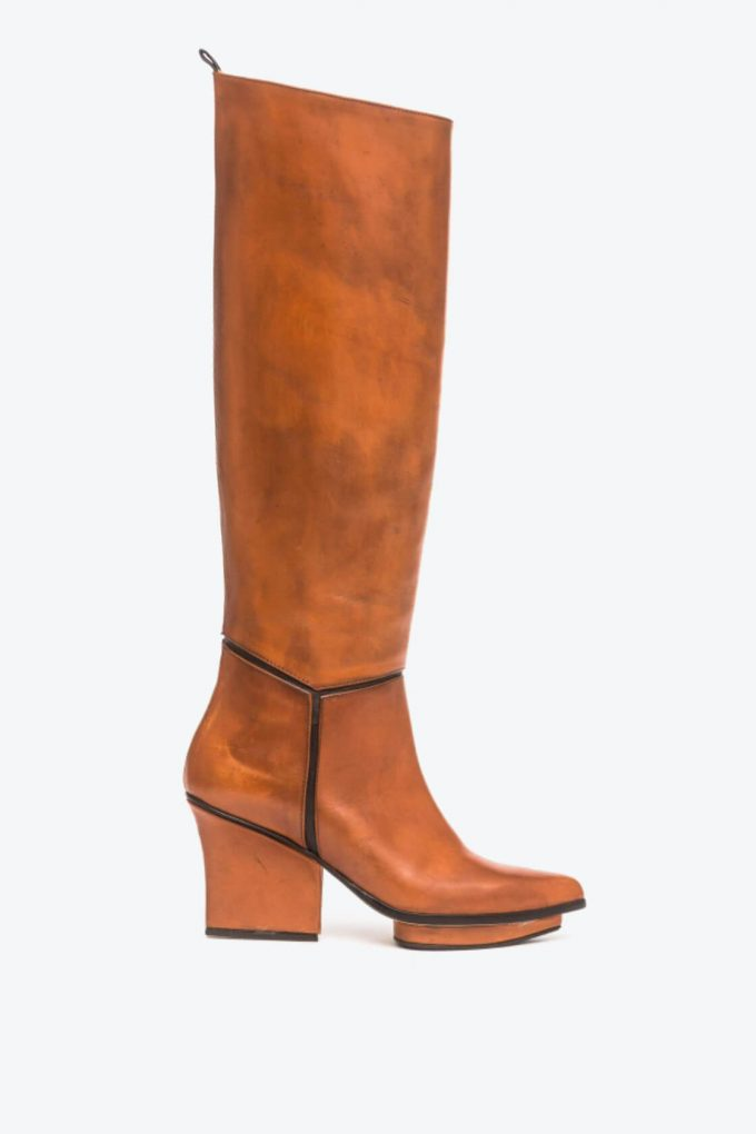 EJK0000021 Mira knee high boots camel 1B