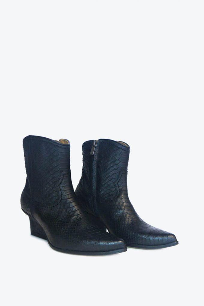 EJK0000030 Abby western boots black python 2