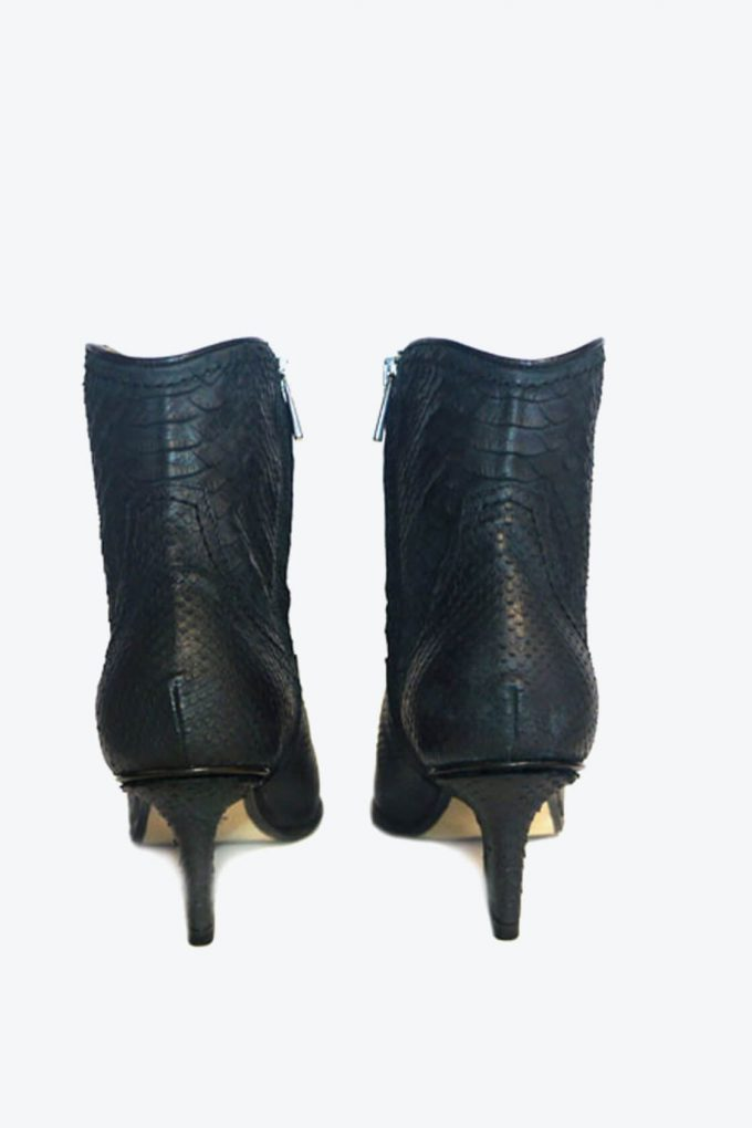 EJK0000030 Abby western boots black python 3