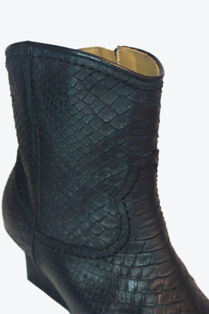 EJK0000030 Abby western boots black python 4