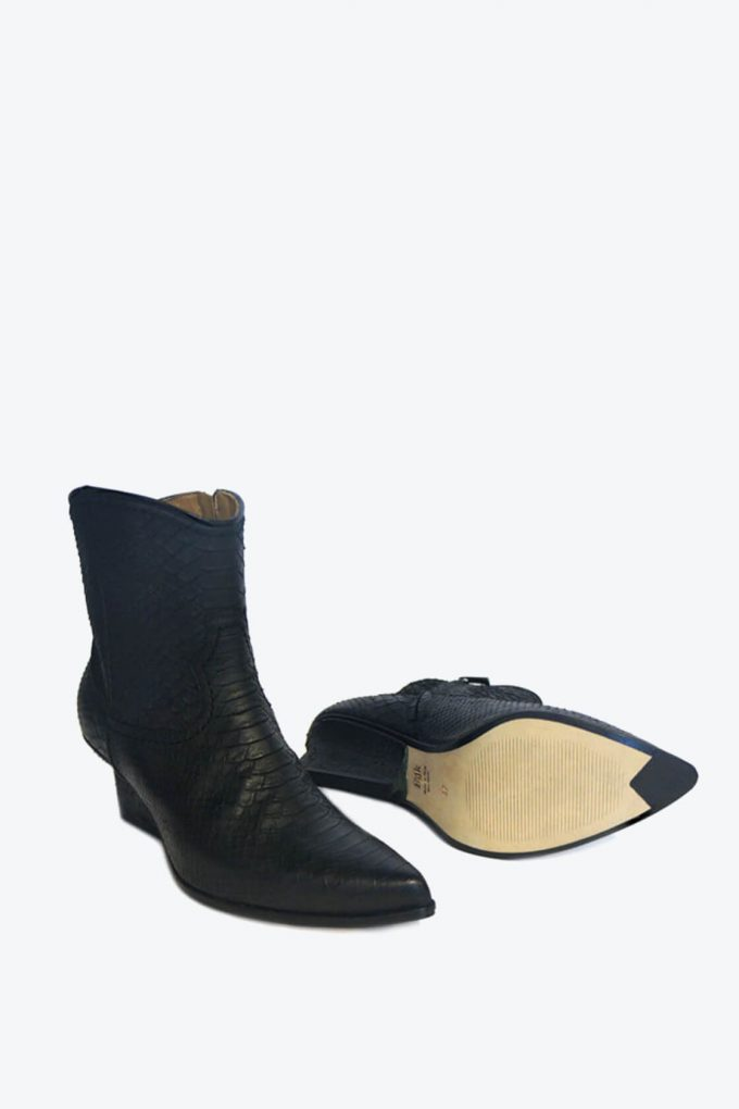 EJK0000030 Abby western boots black python 5