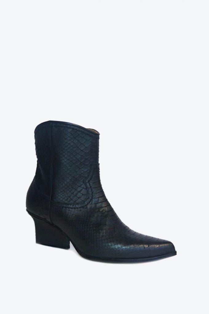 EJK0000030 Abby western boots black python 6