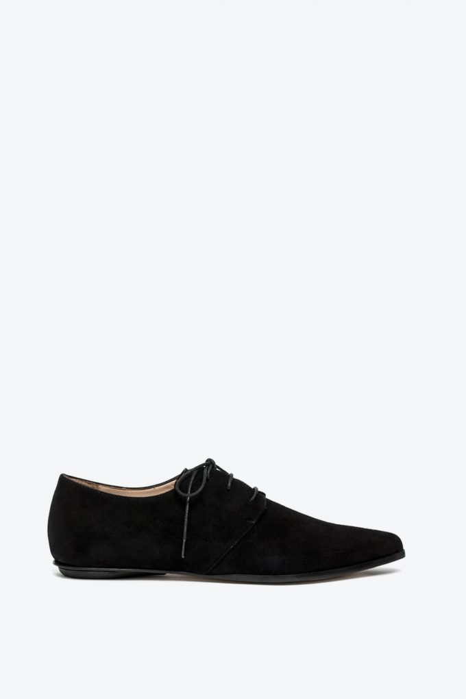 EJK0000033 Renee derby shoes black nabuk 1B