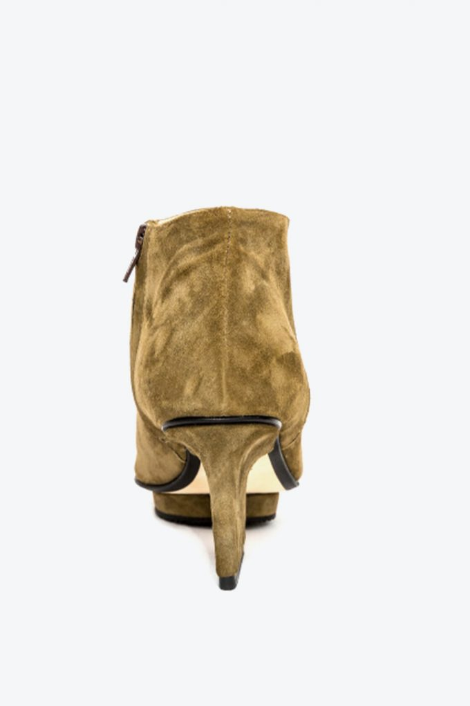 EJK0000036 Christal ankle boots open toe olive 2