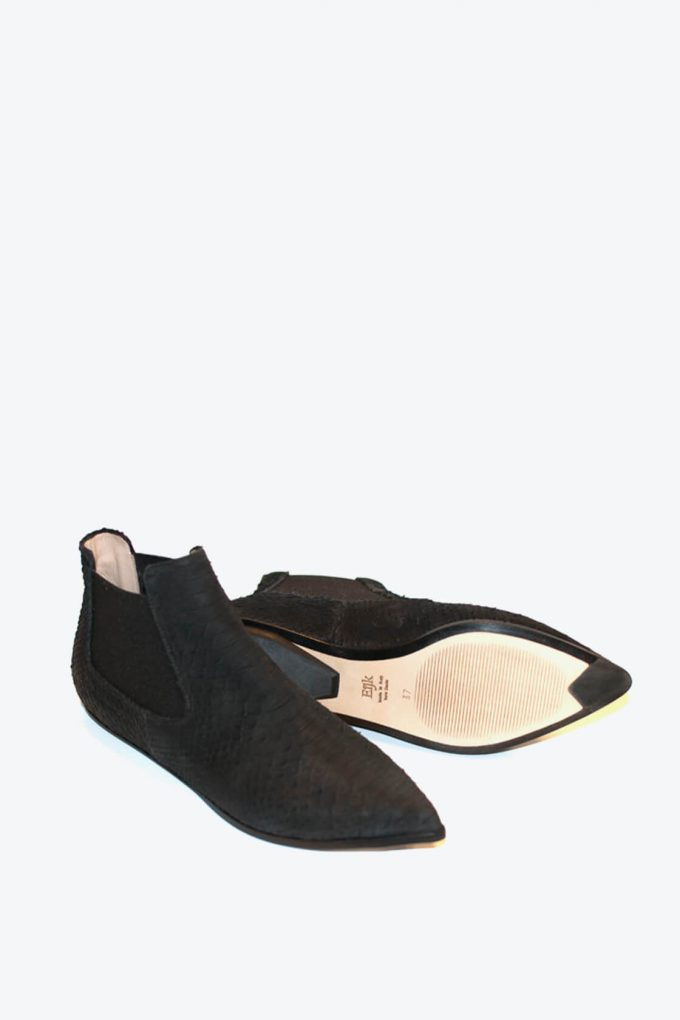 EJK0000042 Niki chelsea boots black python 4