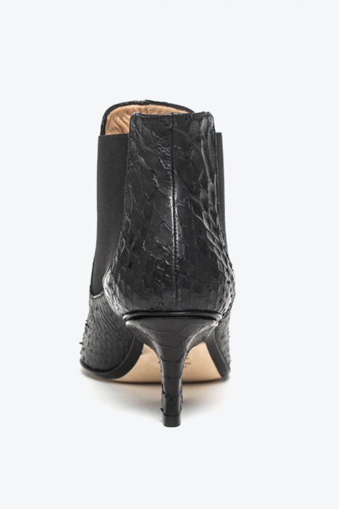 EJK0000046 Nena chelsea boots black python 2
