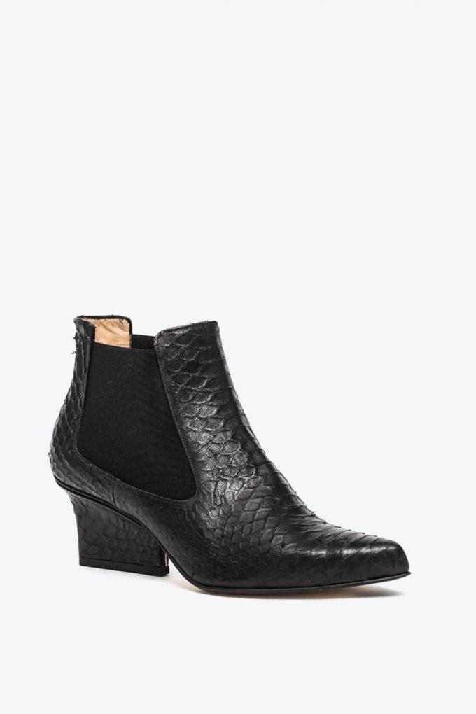 EJK0000046 Nena chelsea boots black python 3