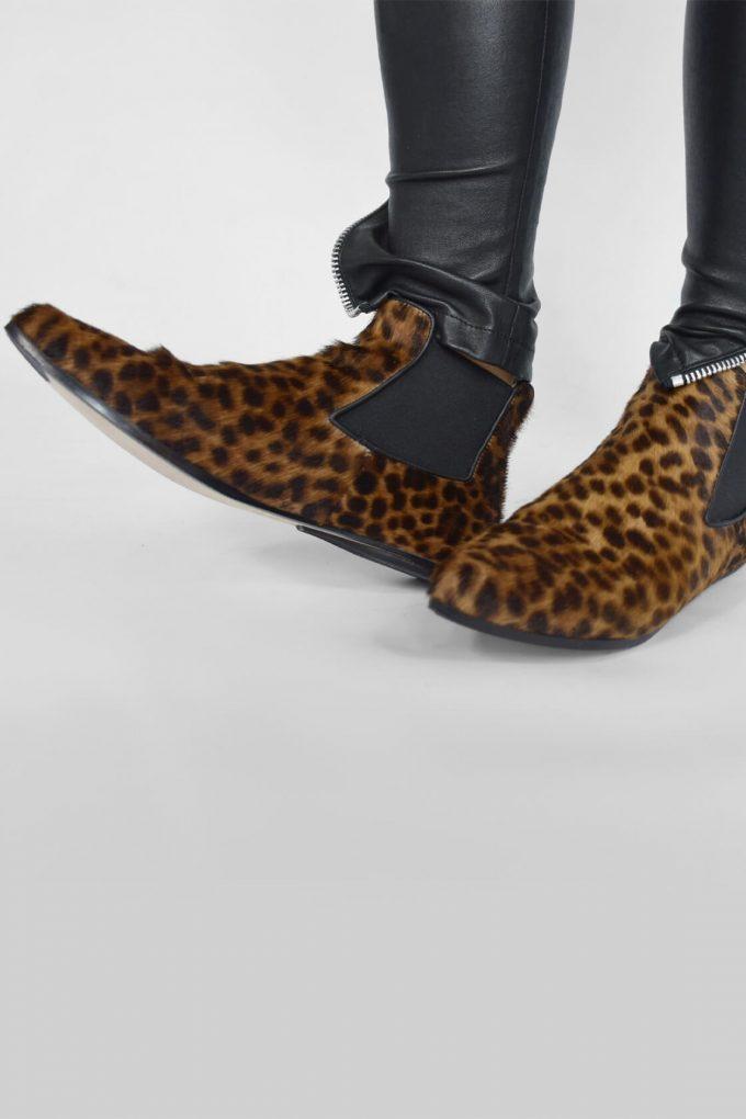EJK0000049 Niki chelsea boots Leopard print 4