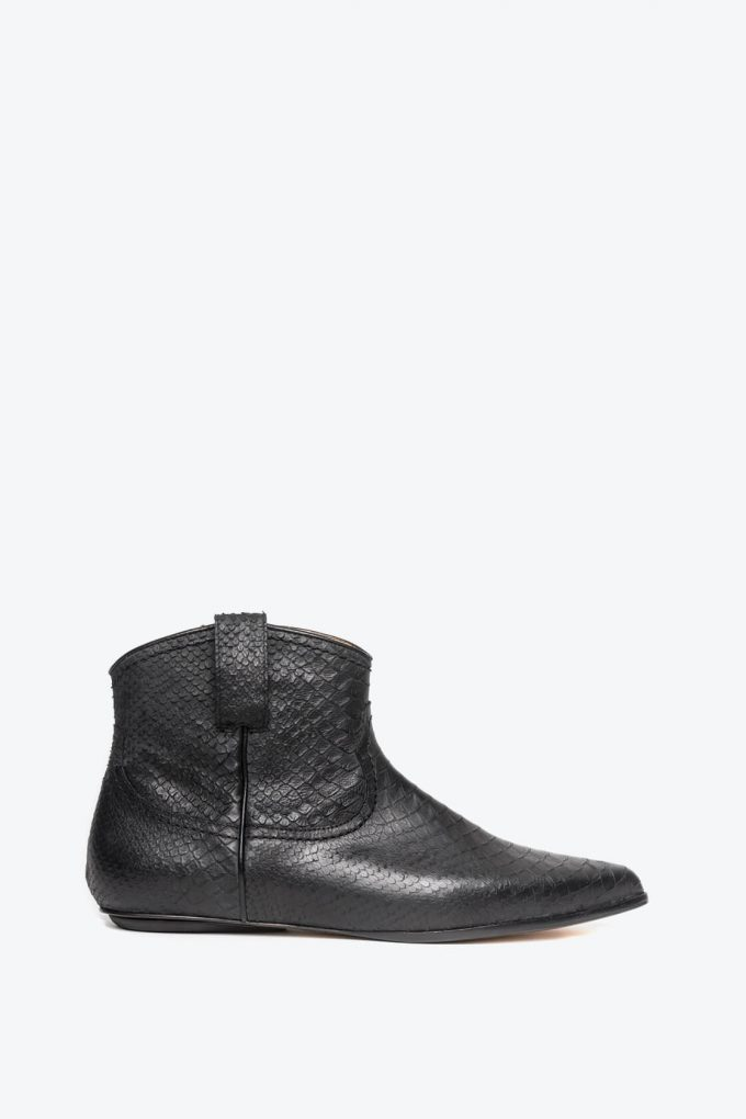 EJK0000052 Kenny western boot black python 1B