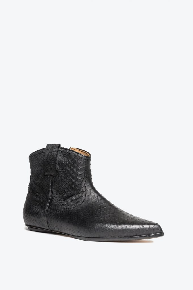 EJK0000052 Kenny western boot black python 3