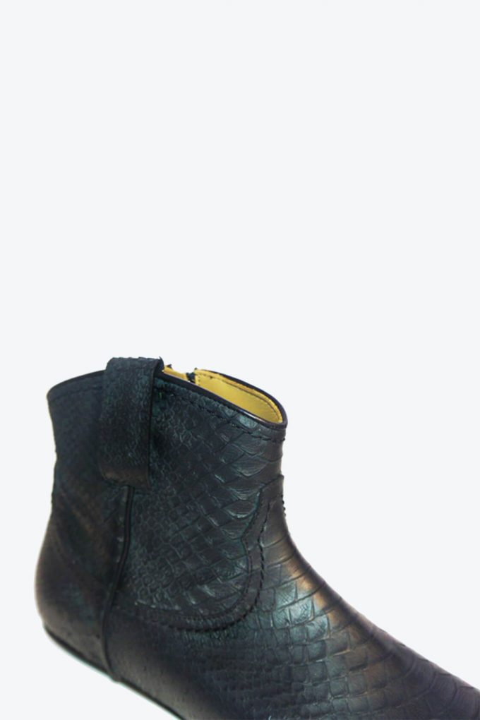 EJK0000052 Kenny western boot black python 5