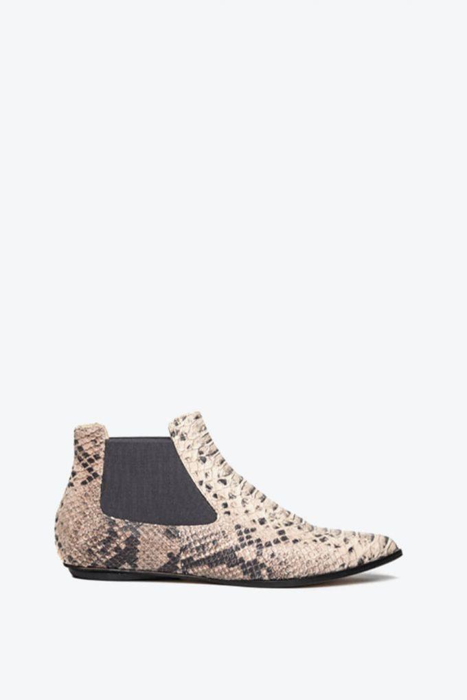 EJK0000060 Niki chelsea boots sand python 1B