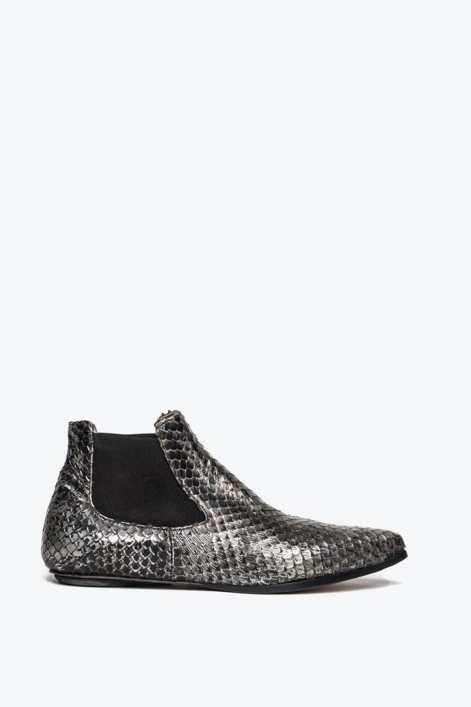 EJK0000061 Niki chelsea boots silver washed python 1B