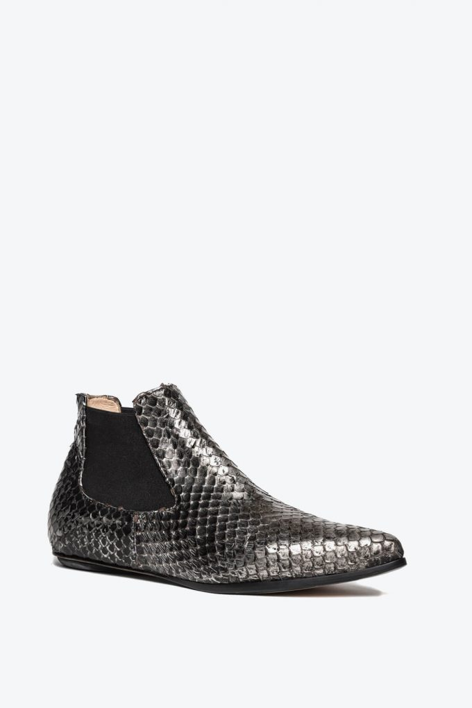 EJK0000061 Niki chelsea boots silver washed python 2