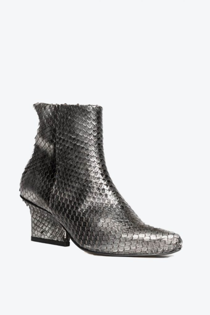 EJK0000063 Denis ankle boots silver washed python 4