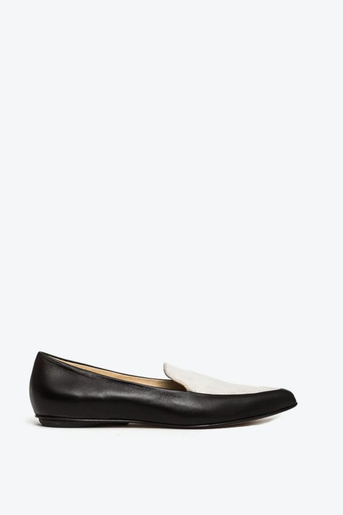 EJK0000067 Molly loafers black cream 1B