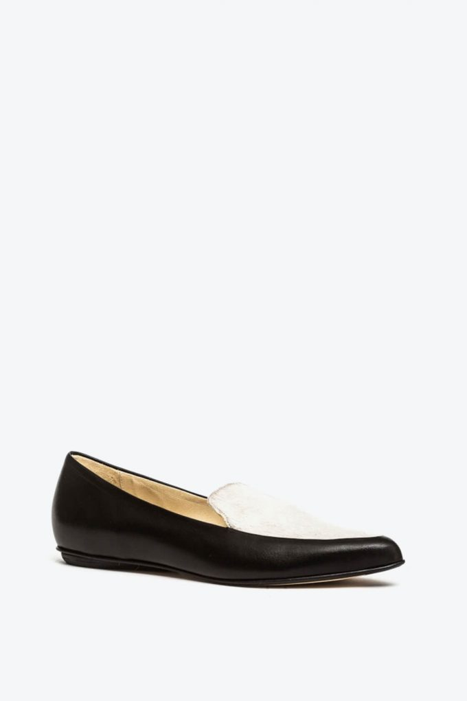 EJK0000067 Molly loafers black cream 2