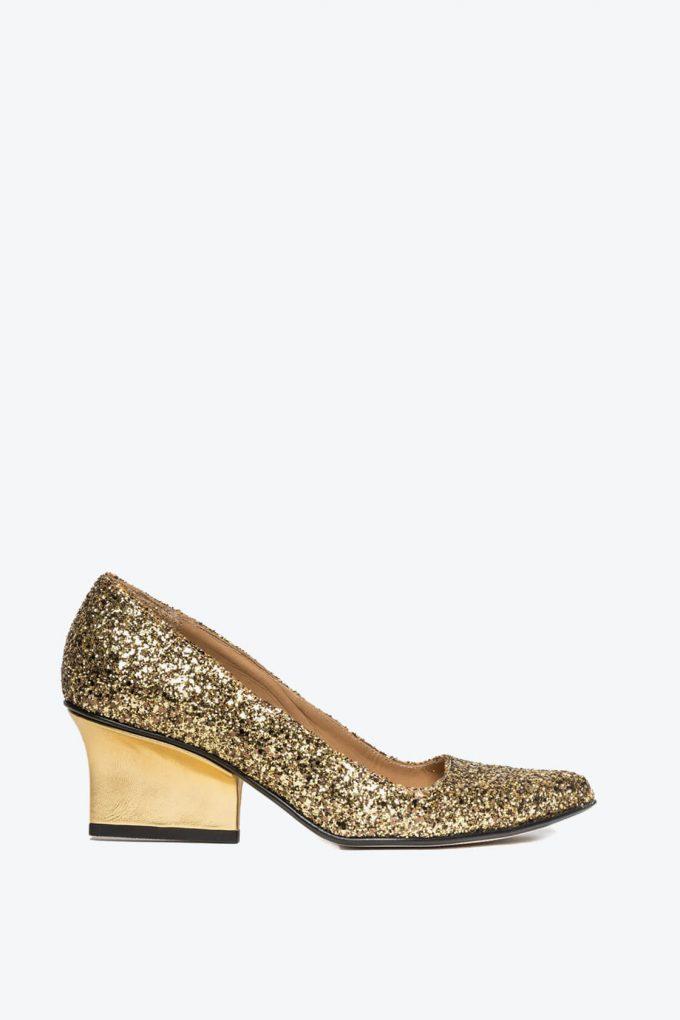 EJK0000076 Jo pumps gold glitter 1B