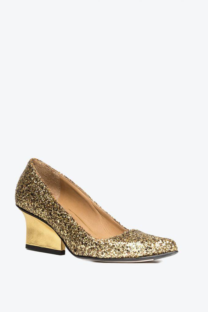 EJK0000076 Jo pumps gold glitter 3