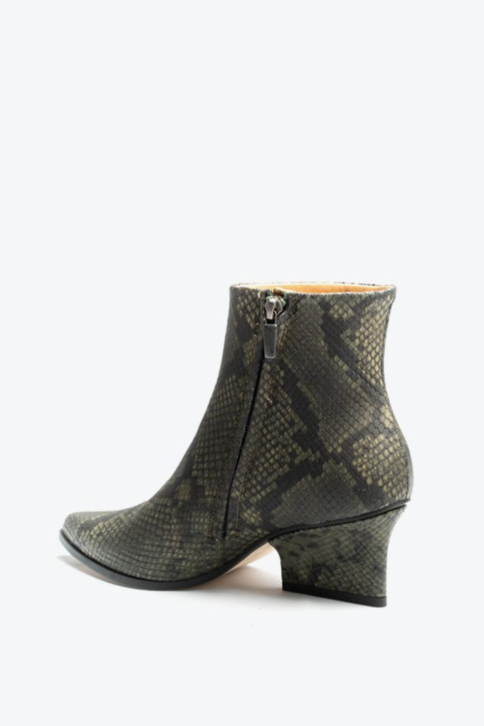 EJK0000085 Ryan ankle boots Green python 3